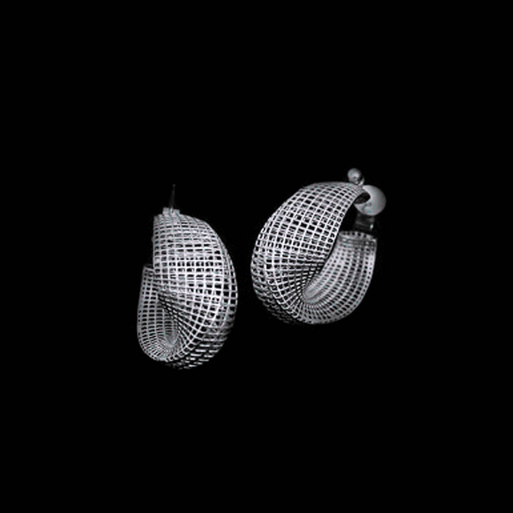 sterling silver - Small Mobius Earrings