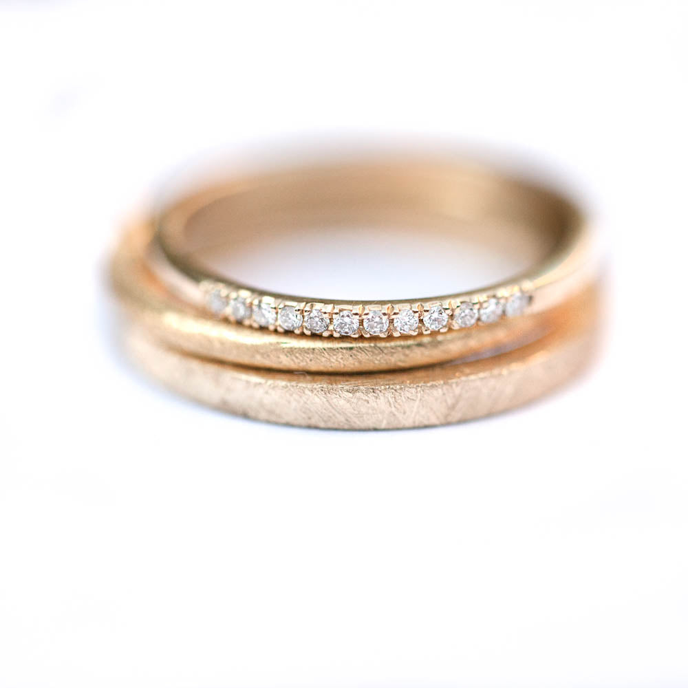 18K 12D  White Pave Eternity Ring