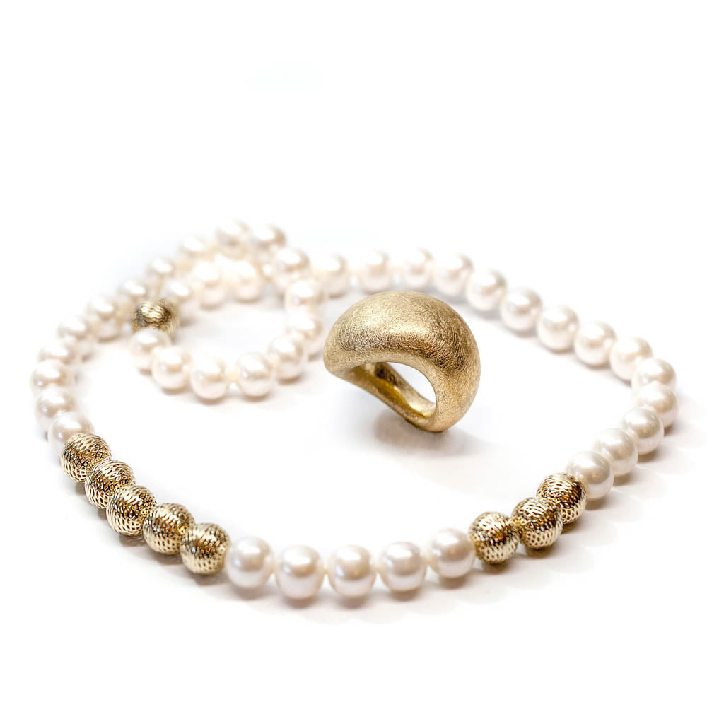 <b>14k</b>  beads, Sweetwater Pearls Collier