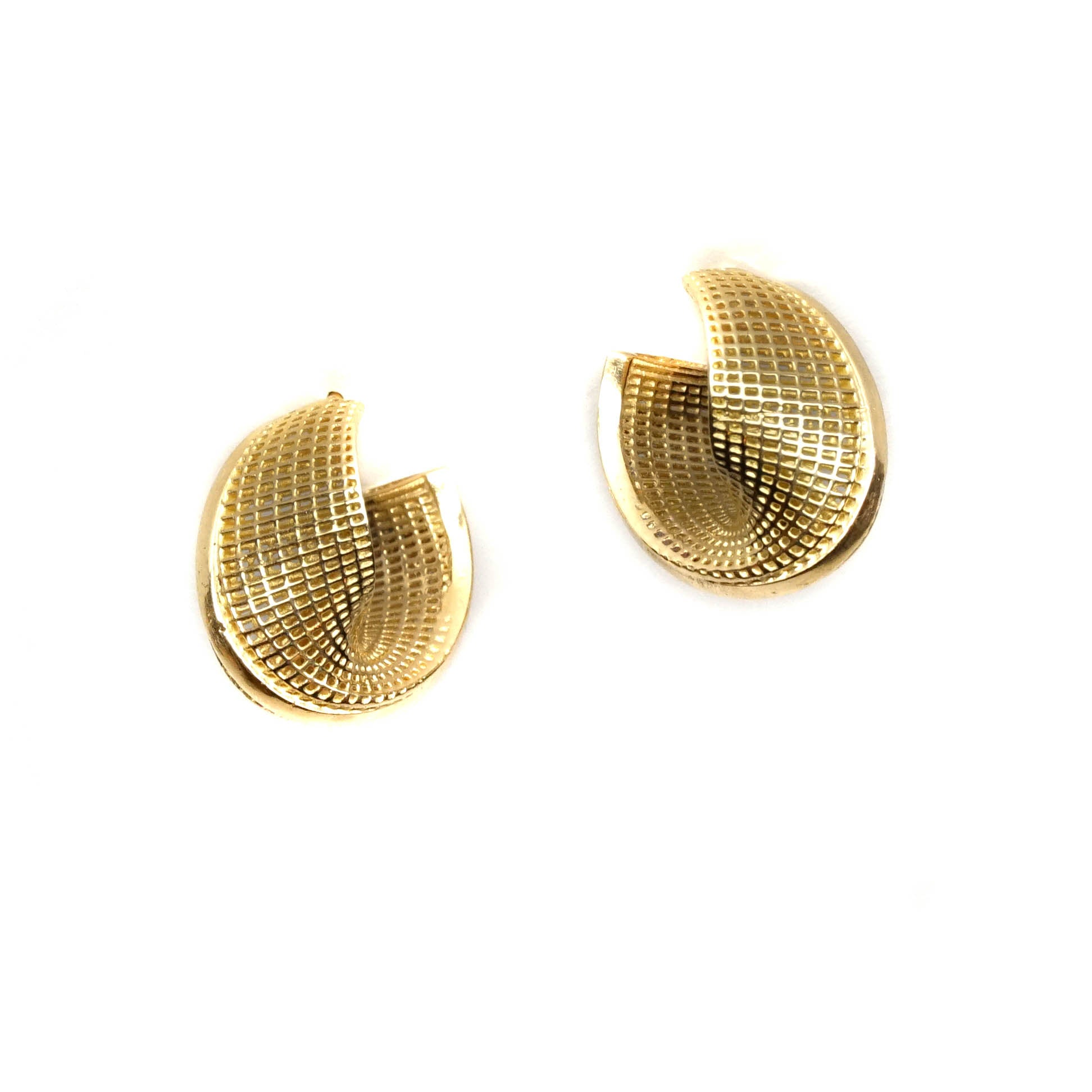 14k - Small Mobius - Line Model Earrings