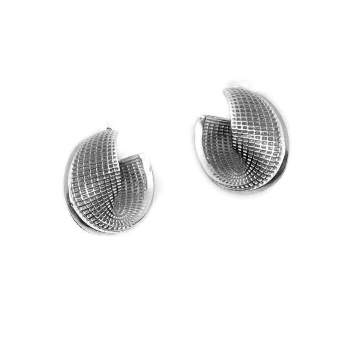 Sterling Silver -  Small Mobius - Line Model Earrings