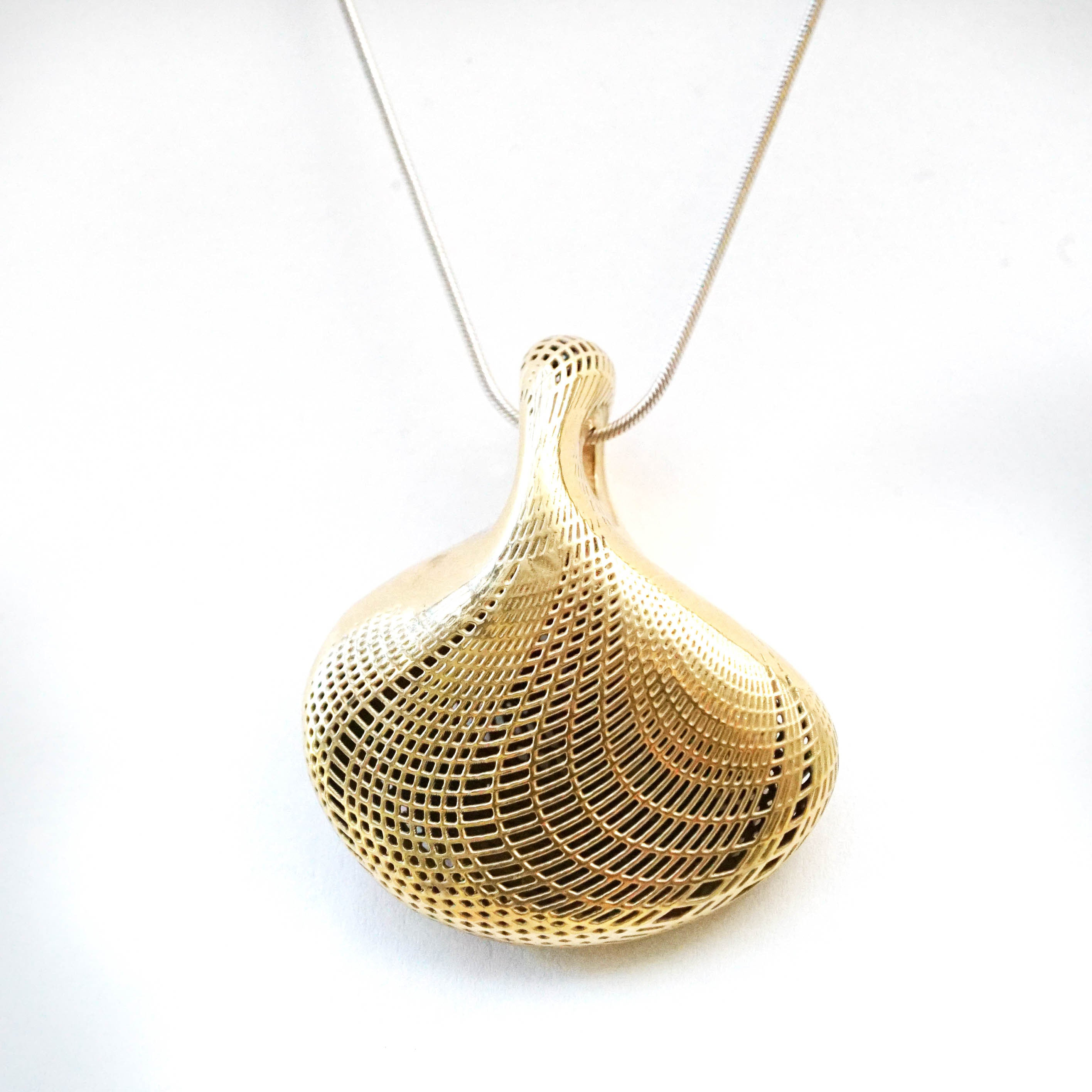 14K Large bottle Pendant