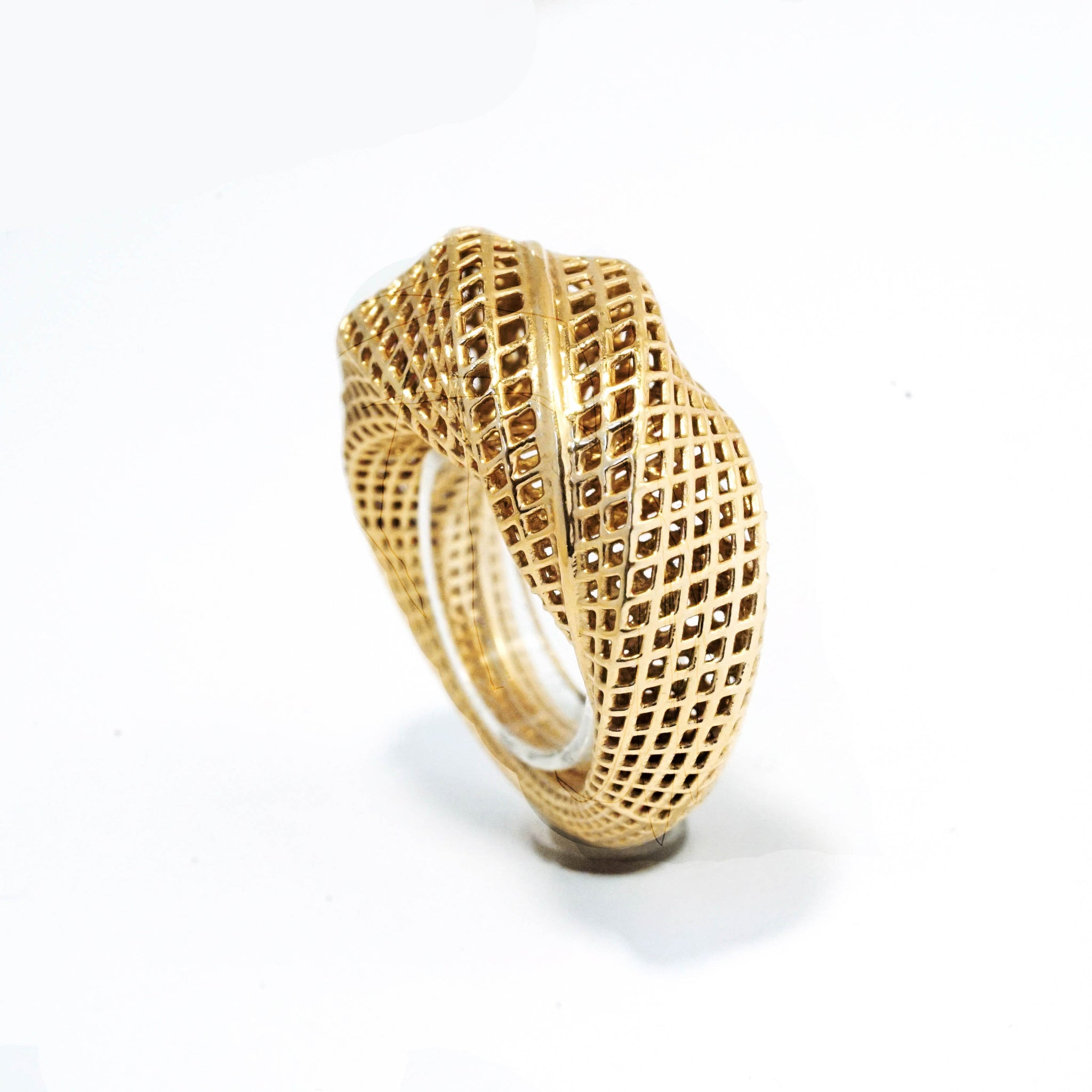 14 Karat Gold 360 Mobius Ring