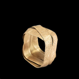 18K - Square - 5 Loops Ring
