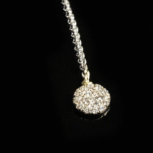 Diamonds Small round Disk chain Earring