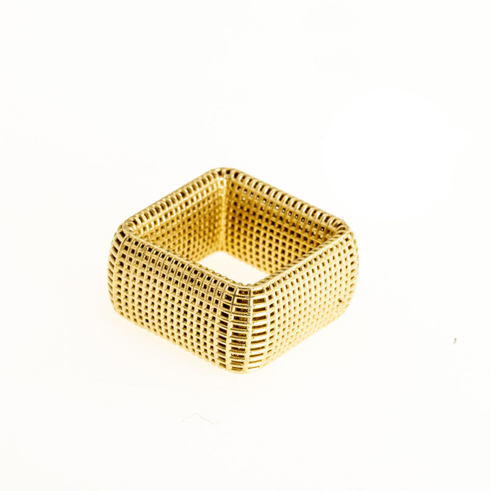 14K yellow gold- Square NET Ring