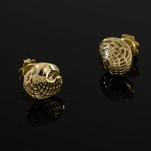 14 Karate yellow Gold Small Egyptian Earrings