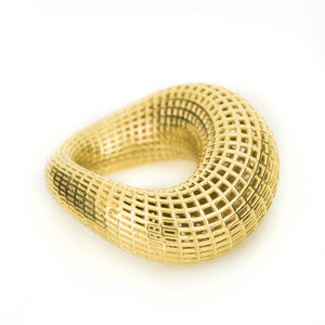 14K Yellow Gold Wide Torus  Ring