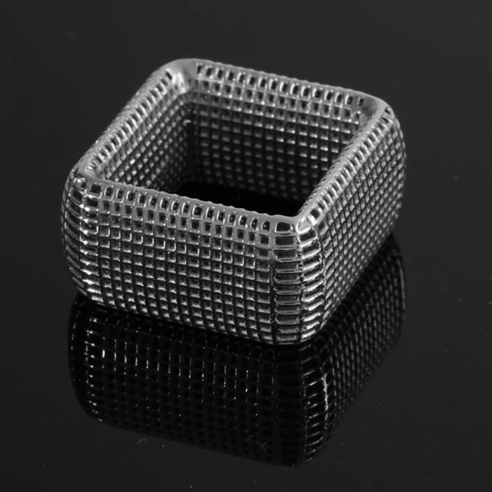 STERLING SILVER - Square NET  Ring