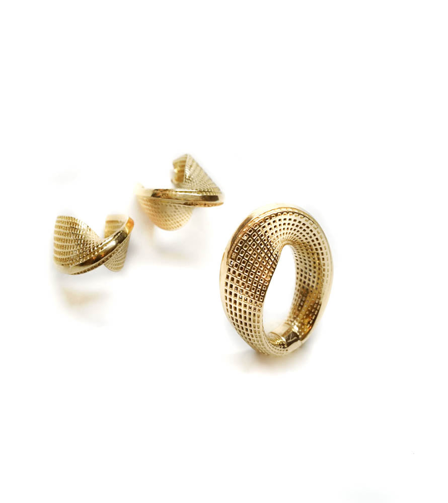 14K- Small  Mobius Earrings