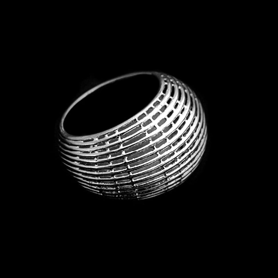 SILVER Dome Net Ring