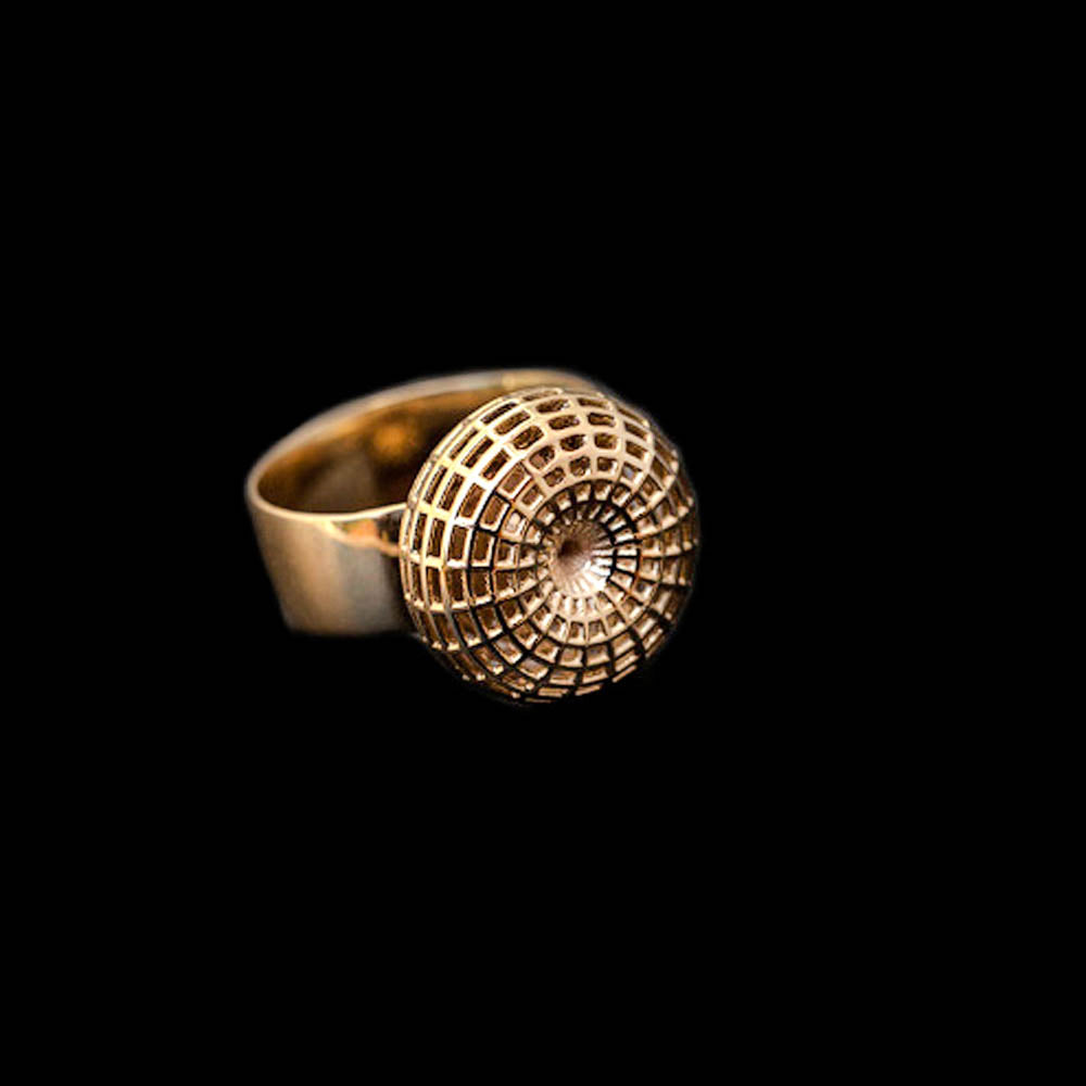 18K Yellow Gold , Ball Ring