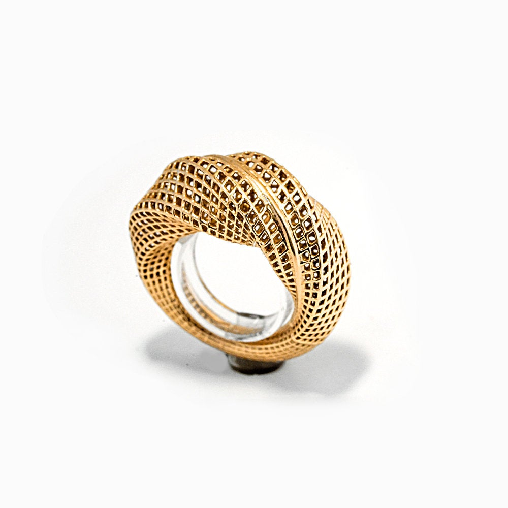 14K - 360 Mobius Contemporary Ring
