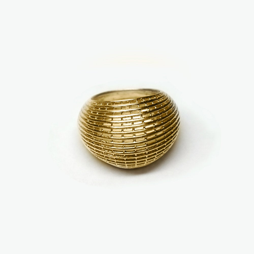 14k Gold Architecture Contemporary Bombe Ring