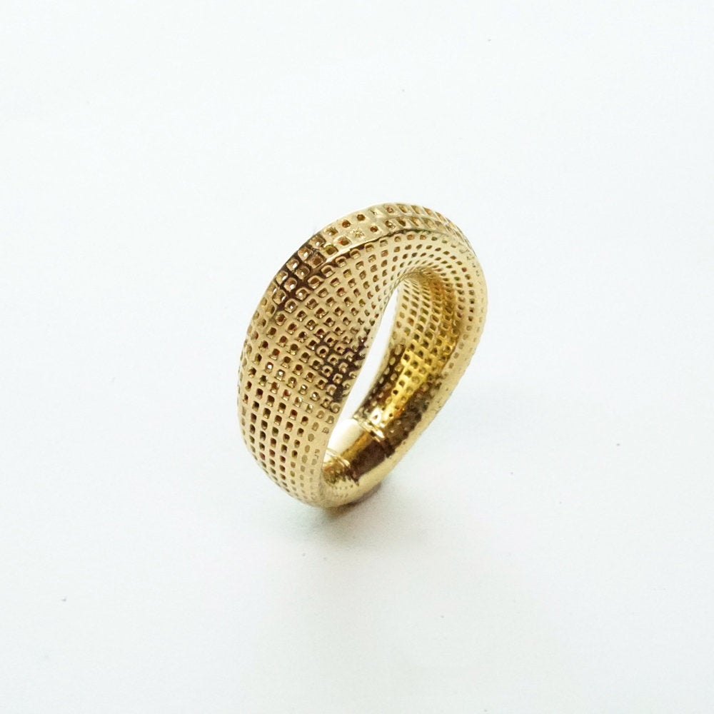 14K yellow gold - Slim Mobius #1 Ring
