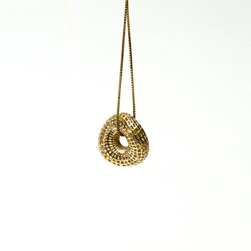 18 Karat Yellow Gold Small twisted torus - Spiga chain