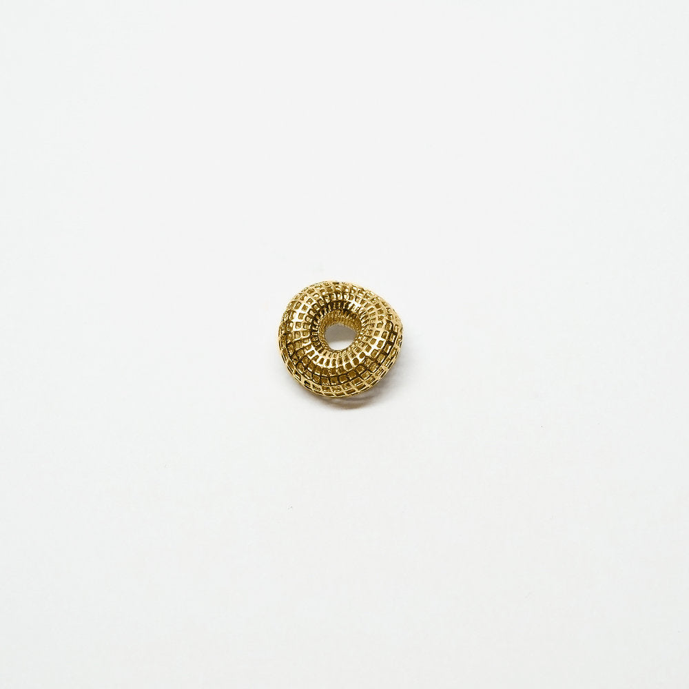 18 Karat Yellow Gold Unique Small twisted torus