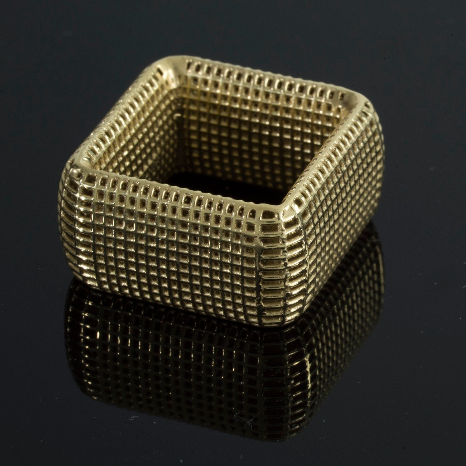 14K - Square cocktail Ring