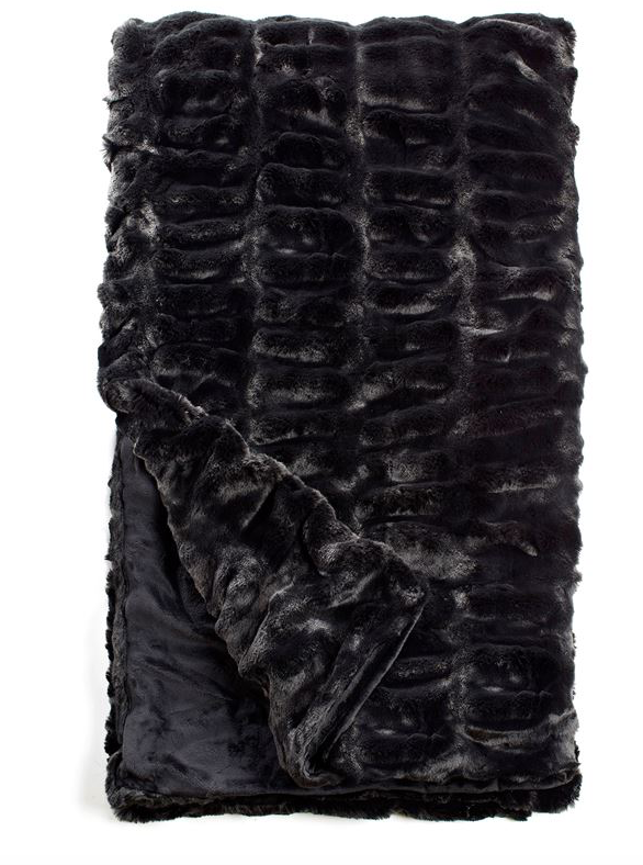 COUTURE COLLECTION ONYX MINK FAUX | FUR THROWS