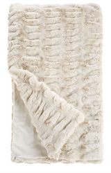 COUTURE COLLECTION IVORY MINK FAUX  | FUR THROWS