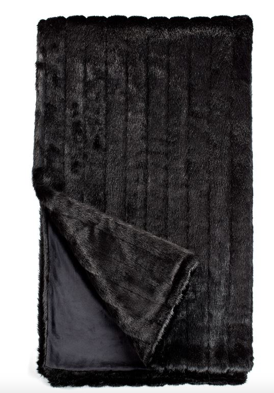 COUTURE ONYX MINK FAUX |  FUR THROWS