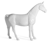 WHITE FULL SIZE HORSE | SCULPTURE