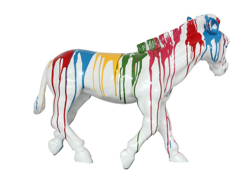 RAINBOW ZEBRA | SCULPTURE