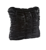 COUTURE COLLECTION ONYX MINK |  FAUX FUR PILLOWS.