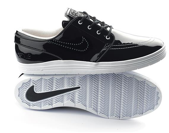 0ceacfebb93f A janoski collaboration to celebrate 8Five2 skate shop in Hong Kong.  features black patent leather upper with a contrasting white sole.