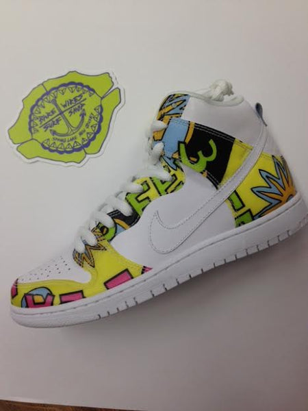 "sports shoes cf69a b6653 Nike SB Dunk High ""De La Soul"" White Firefly 748751-177. February 13, 2015"