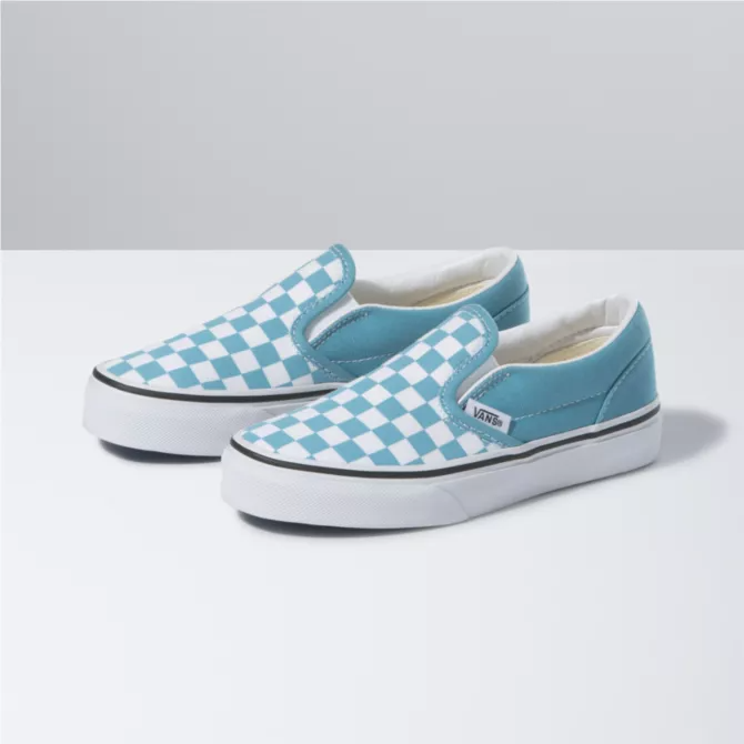 Vans Youth  Classic Slip On(Chkr)Delph Blue