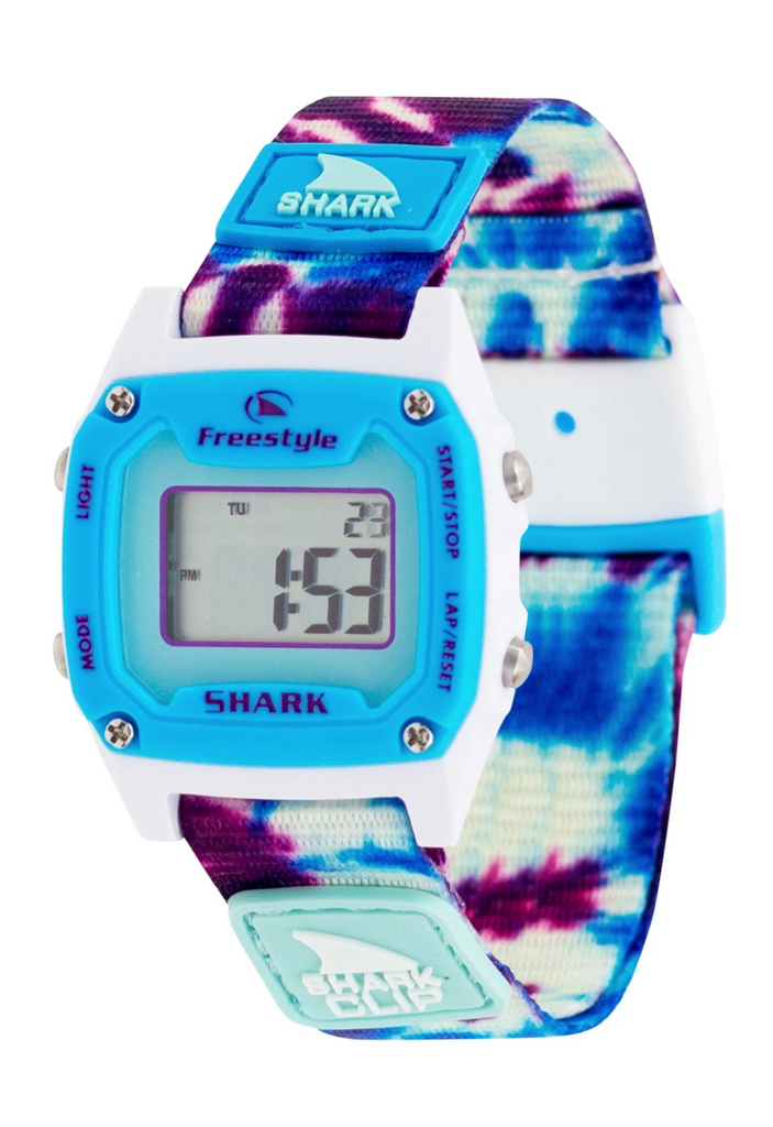 Freestyle Shark Mini Clip-Tie Dye Blue Daze