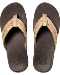 Reef Mens Ortho Bounce Coast Brown Flip Flop
