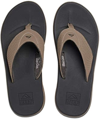 Reef Rover Tan Black Mens Flip Flop