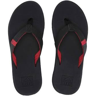 Reef Slammed Rover Grey Black Red mens Flip Flops