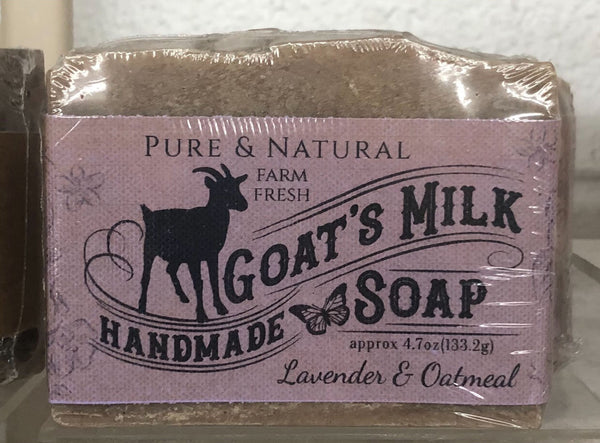 Lavender & Oatmeal (with Amyris) Pure & Natural Goat Milk Soap
