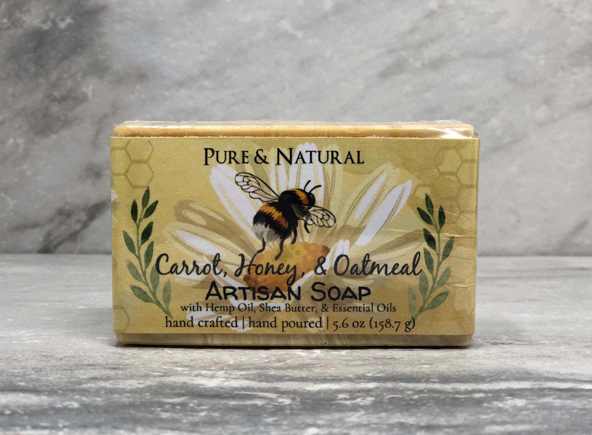 Carrot, Honey, & Oatmeal Pure & Natural Goat Milk Soap