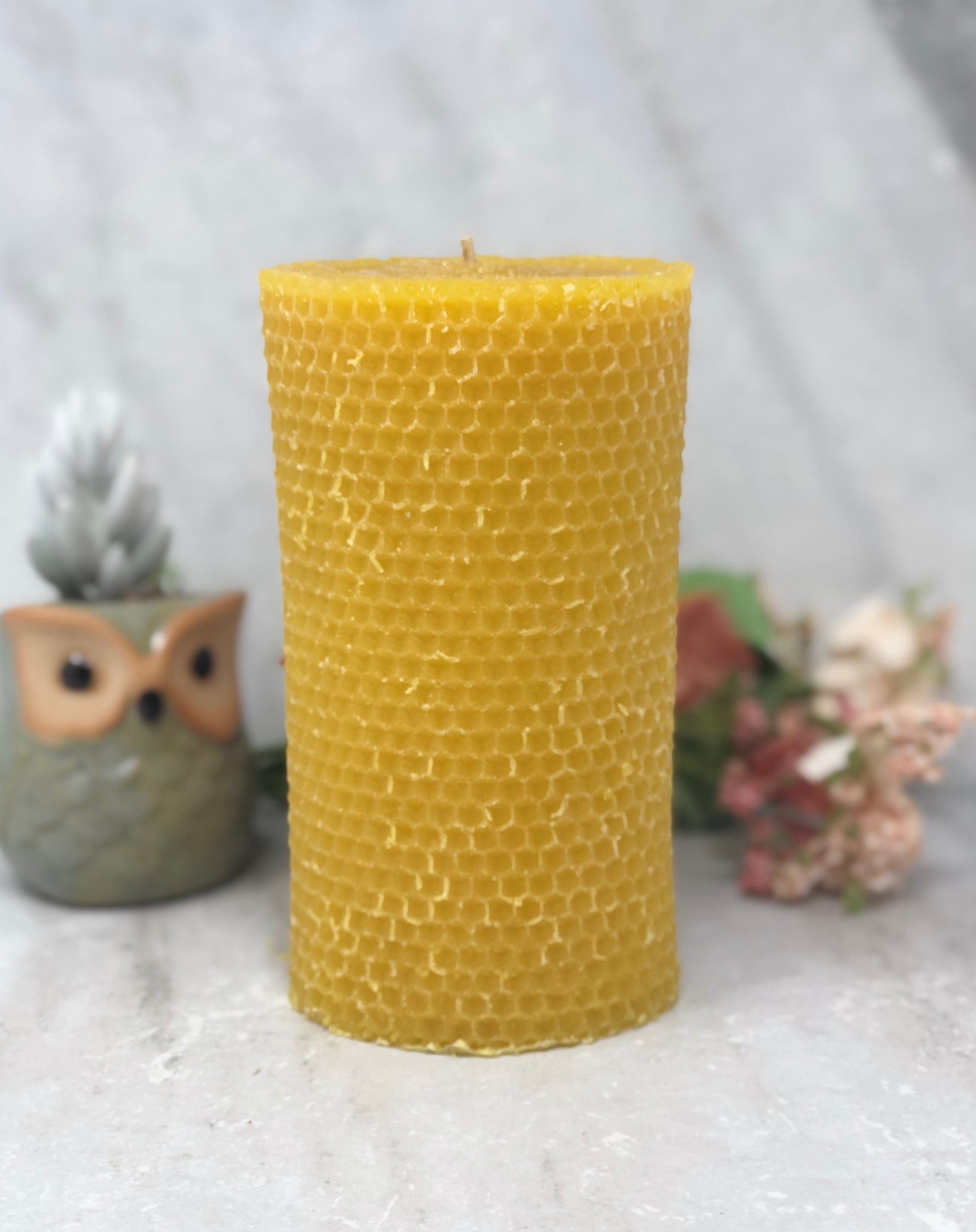 Beeswax Pillar Candle - Honeycomb