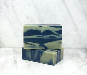 French Green Clay & Activated Charcoal Pure & Natural Goat Milk Soap