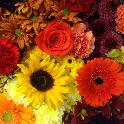 Classic Fall Wrapped Flower Assortment