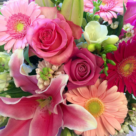 Premium Assortment of Pink Cut Flowers (Choose size $65, 95 or 125)