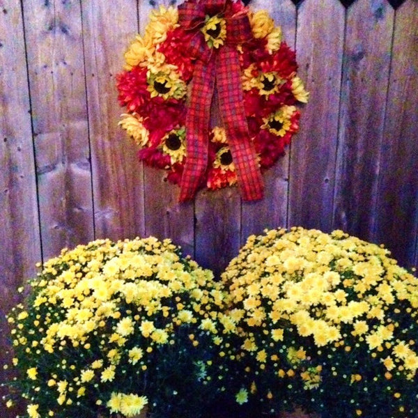 Color-Fall Doorstep Display