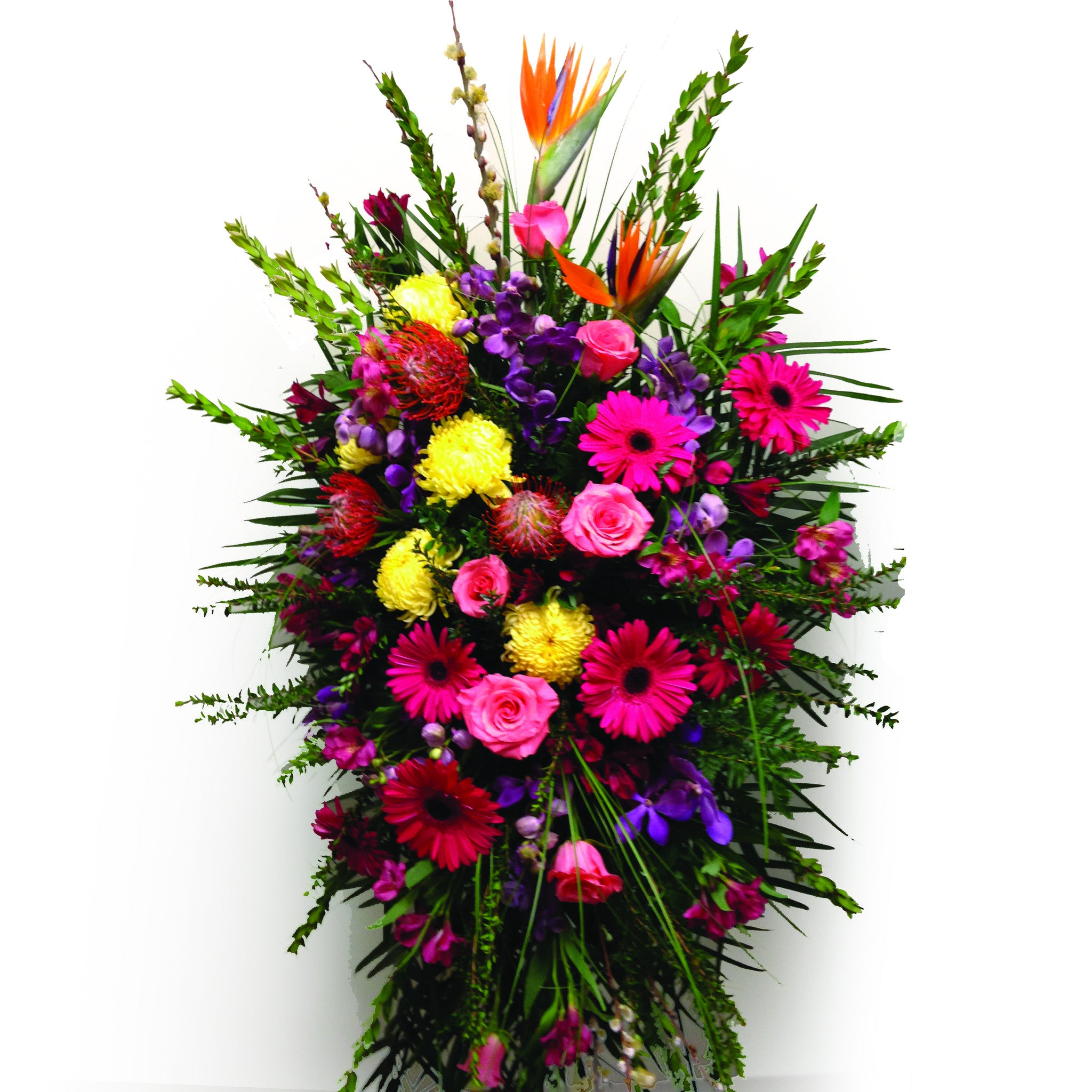 Buffalo funeral flowers by lipinoga florist of clarence ny exotic sympathy easel spray dhlflorist Image collections