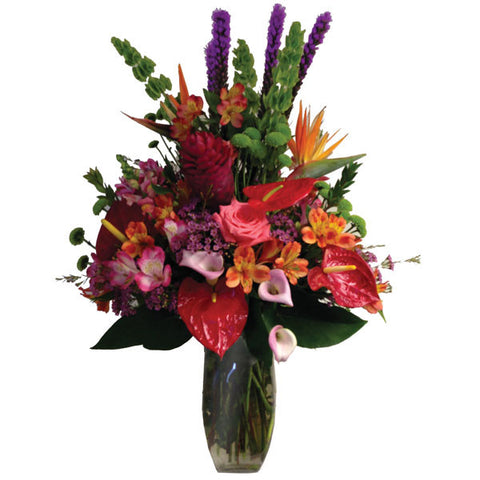 Fiji Dreams Exotic Floral Vase
