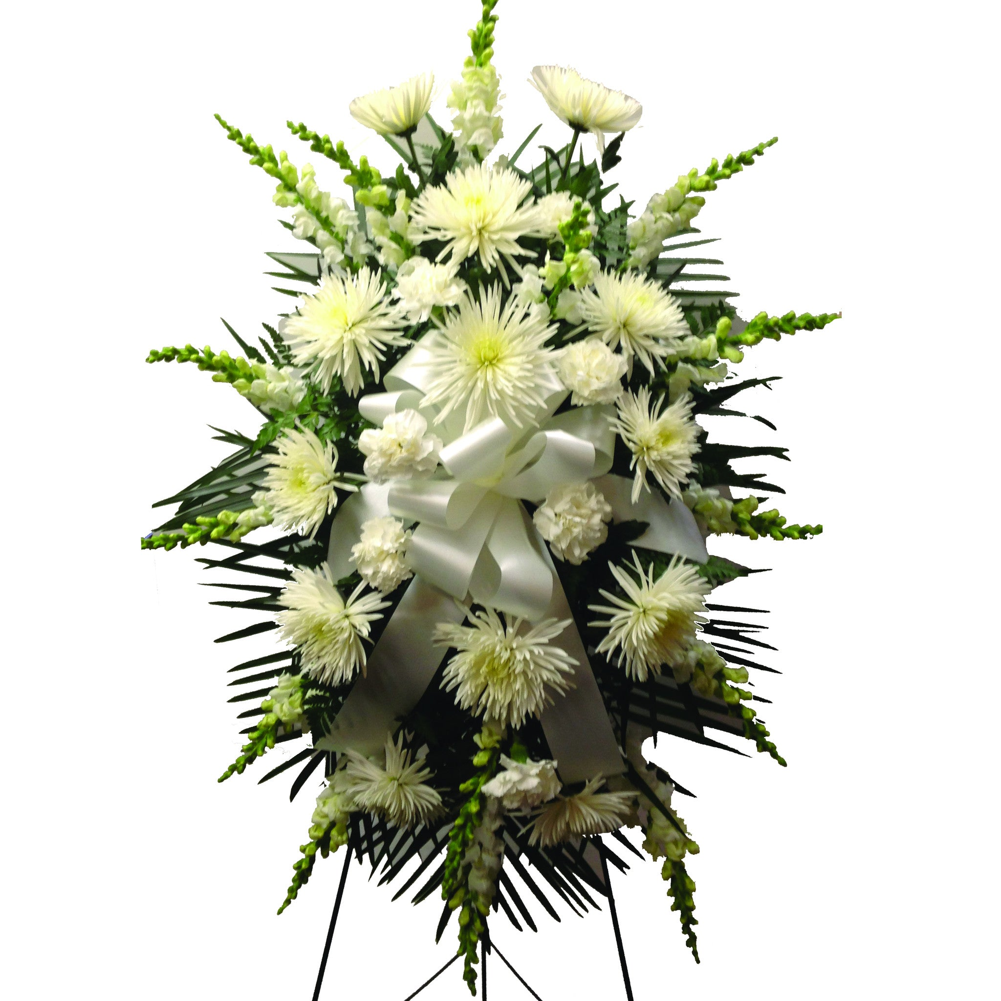 White sympathy spray funeral flowers clarence ny lipinoga florist product image izmirmasajfo