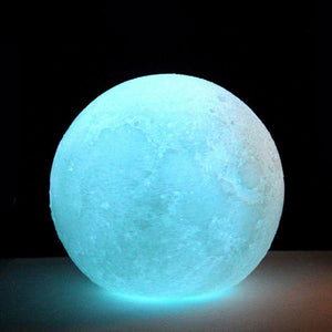 3D Print Multicolor Desk Lamp LED Moon Light Night Light Moon Light Personality Lunar Light Moon Lamp Home Decor