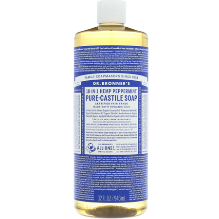 Dr Bronners - liquid soap peppermint 32 oz