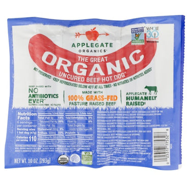 Applegate - Hot Dog Beef Organic -  10oz