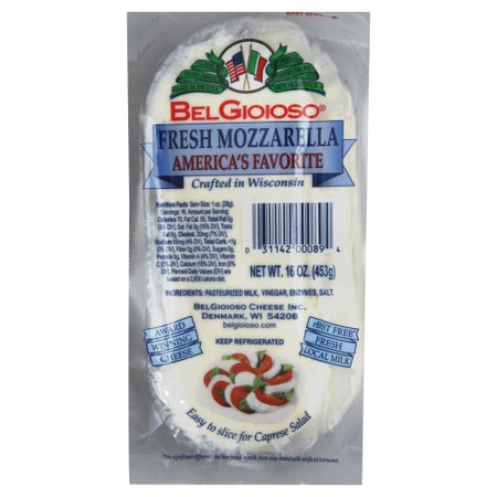 Belgioioso - Mozzarella Log Cheese - 16oz