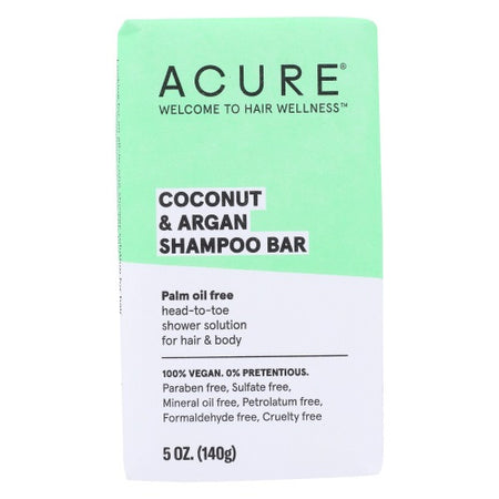 Acure - coconut argan shampoo bar